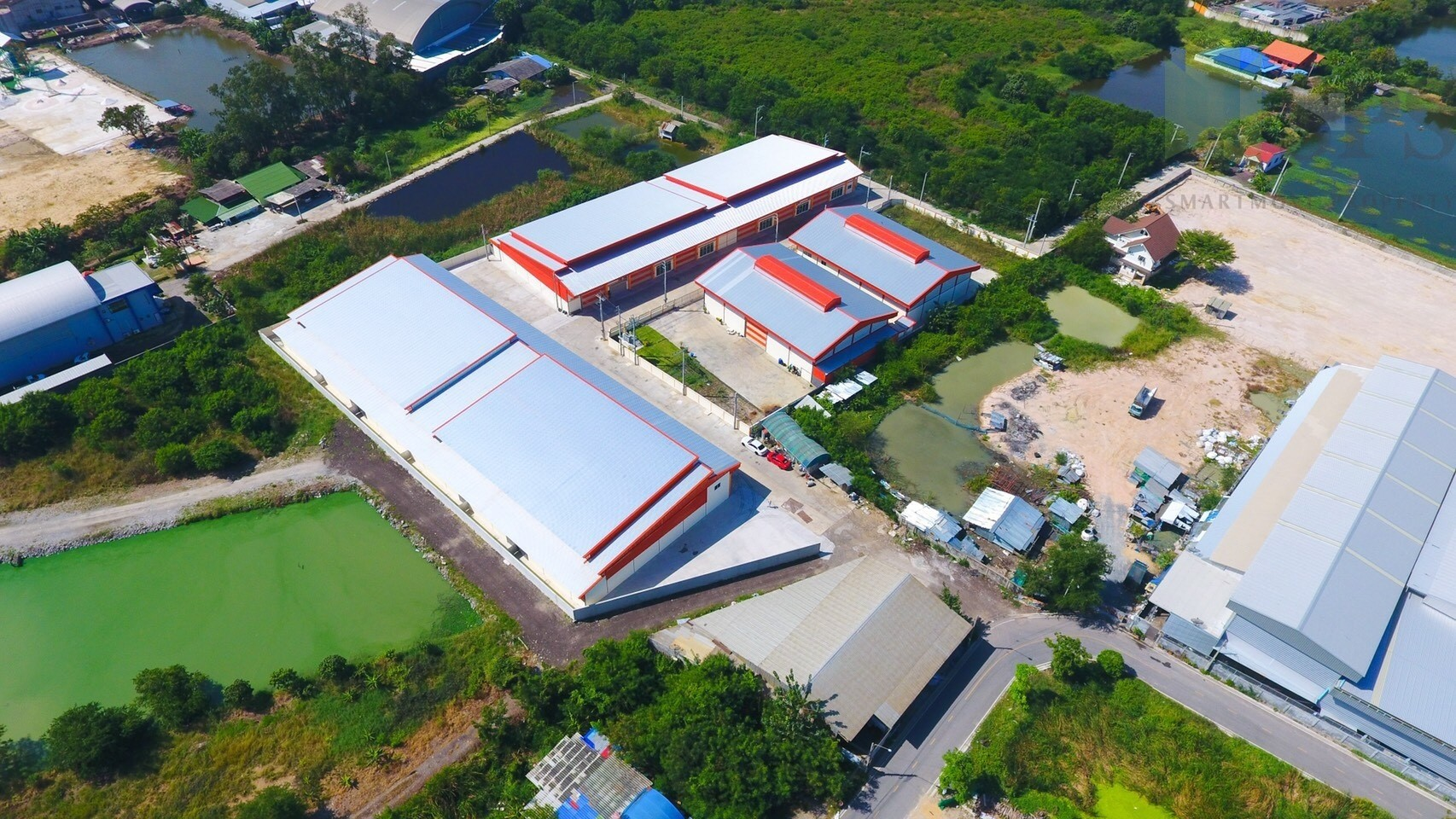 For Sale Warehouse with office/Newly-Built Factory at Phreaksa road(PURPLE ZONE!) SPS-GW80
