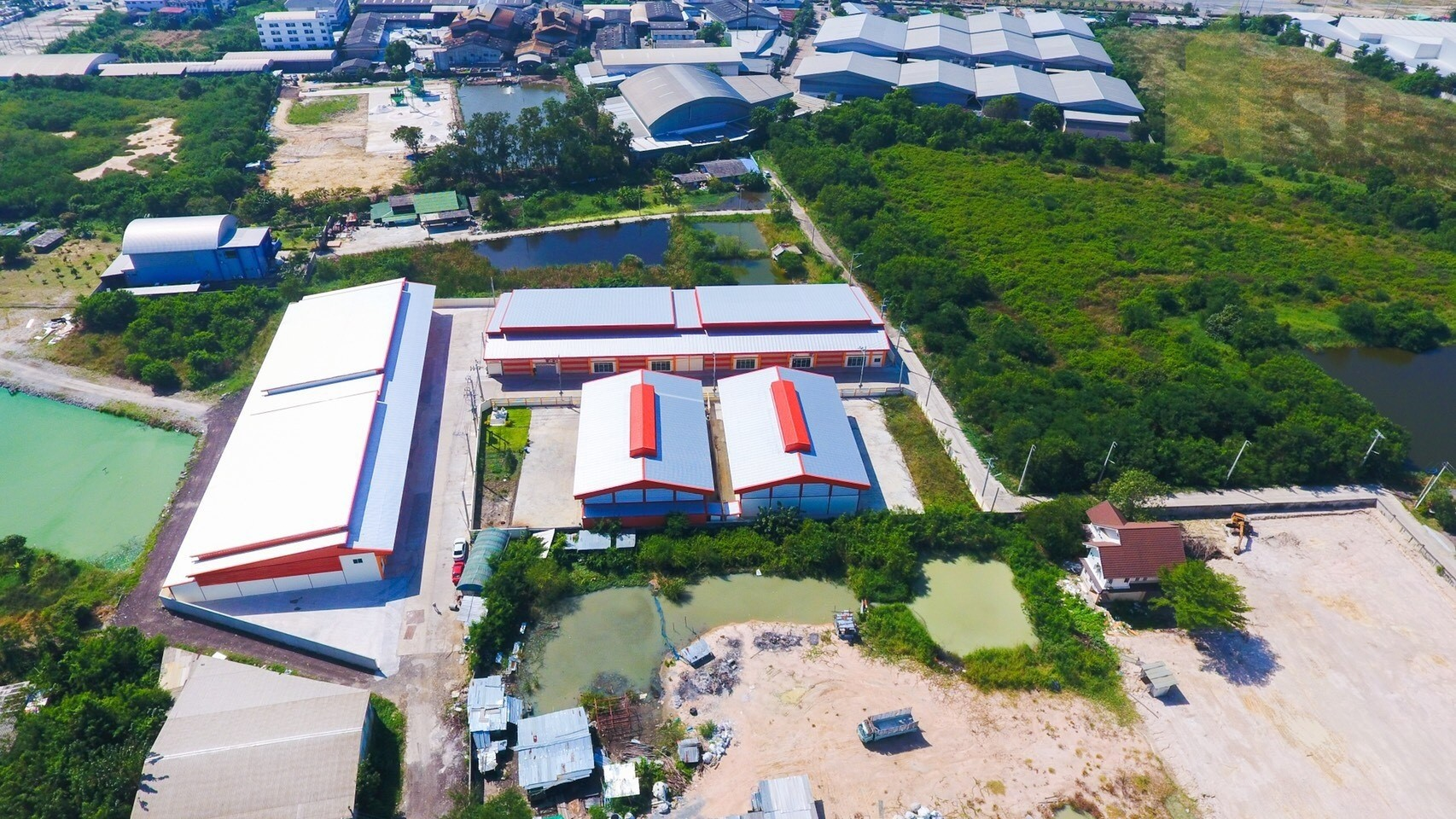 For Sale Warehouse with/office Newly-Built Factory at Phreaksa road (PURPLE ZONE!) (SPS-GW78)