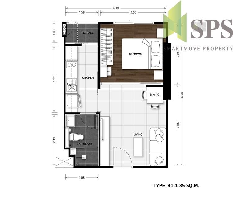 The-Metropolis-samrong-room-plan