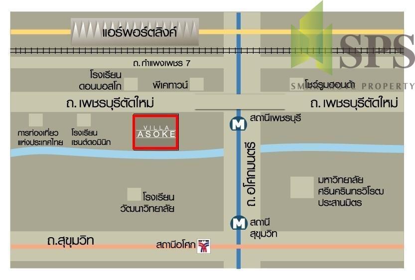 Villa Asoke Map