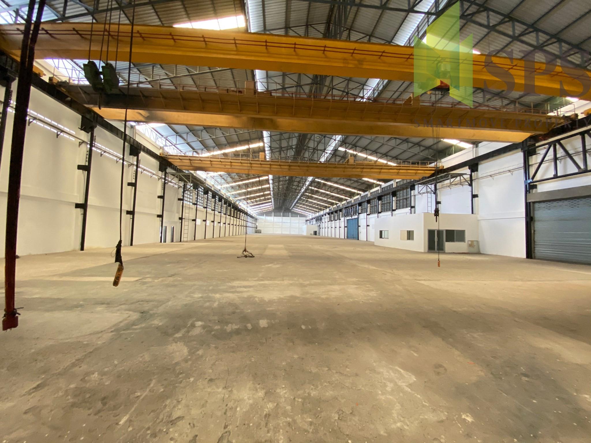 Factory, Warehouse with Kran 5 Tons for RENT at BangPlee-Tamru / โกดัง, โรงงาน พร้อม เครนรับน้ำหนัก 5 ตัน และสำนักงาน สำหรับเช่า ที่ บางพลี ตำหรุ (Property ID: SPS-PPW149)