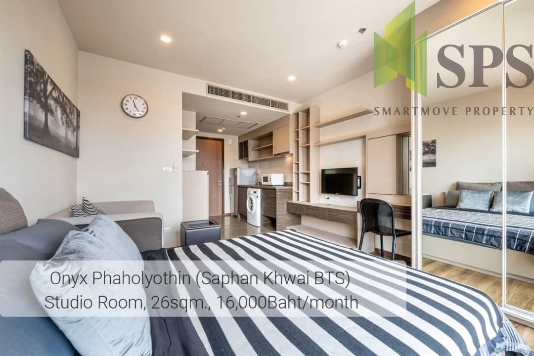🎉 Studio room at Onyx Phahonyothin Condominium for rent [Saphan Kwai BTS Station] 🎉(SPS-LN-ONYX-PAHOL47)